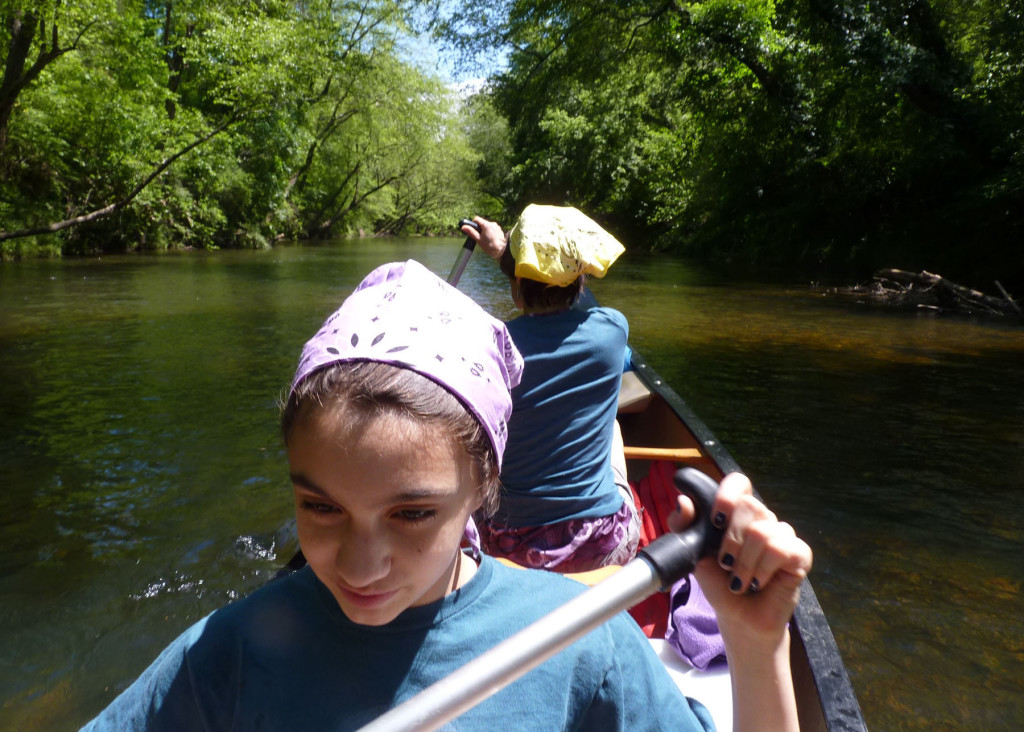 2013- Fun trip on the North Anna River. Sofia Mendez and Jennifer Bickham Mendez paddling towards the takeout.
