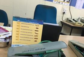 Inside the General Medicine OP room at the Santhiram general hospital