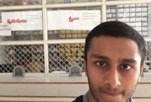 another selfie in front of a pharmacy