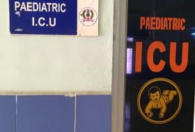 Sign that reads Pediatric ICU