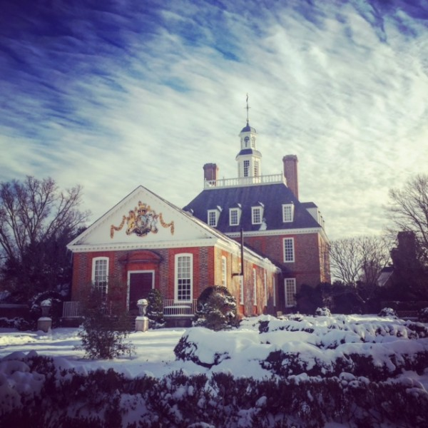 It was a surprise to come back to more than eight inches of snow in Colonial Williamsburg. A rare chance to see the Governor's Palace in a coat of white.