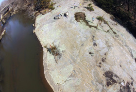 An aerial view of Nottoway River