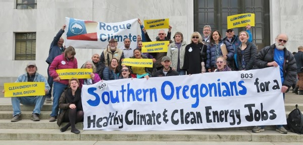 In March, I organized a group of southern Oregonians to lobby for the Clean Energy Jobs Bill at the State Capitol.