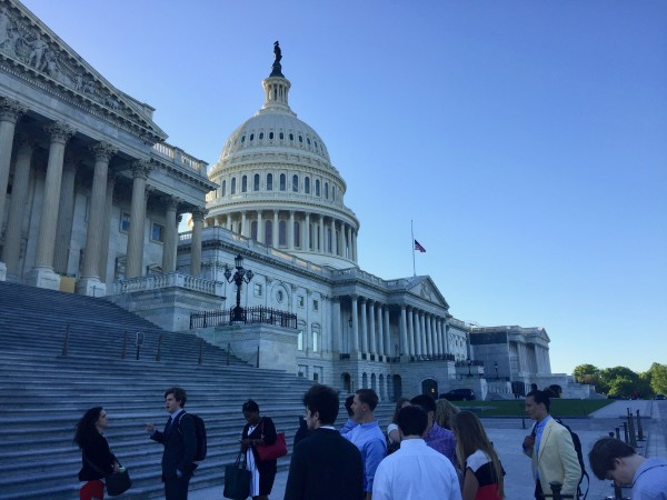 an outside view of the capital building