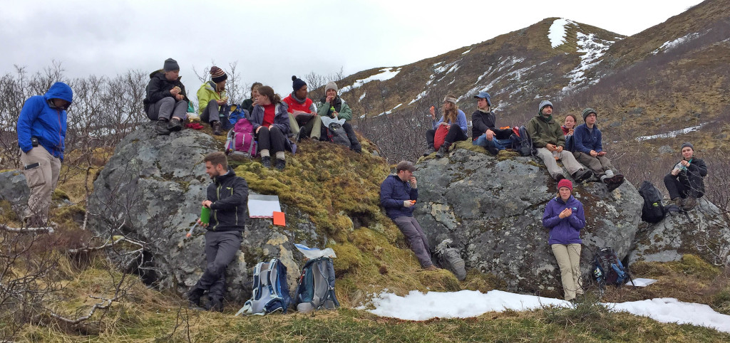 Lunch on the surficial deposits in Trolldalen