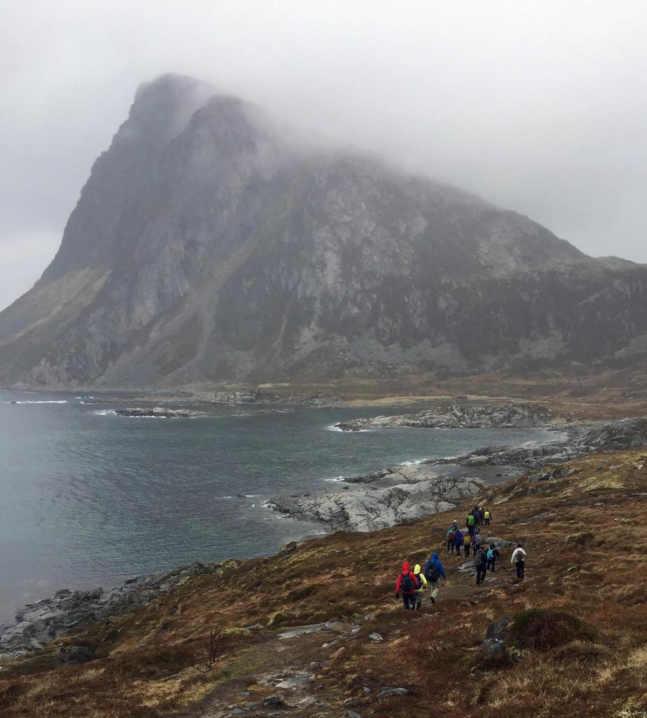 Approaching Offersoykammen, a 434 meter tall peak