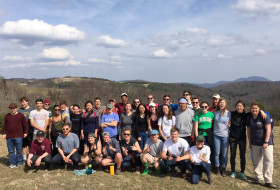 The 2017 Earth Structure & Dynamics class in the Blue Ridge Mountains, Virginia.