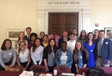 Group of students at the DC Summer Institute on Leadership and Community Engagement.