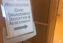 Civic Engagement Education & Assessment sign