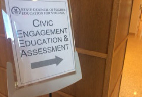Civic Engagement Education & Assessment sign