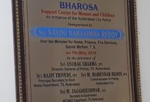 This plaque was placed in the entrance of Bharosa commemorating the Support Center for Women and Children.