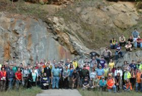 The whole gang- 2017 Virginia Geological Field Conference.