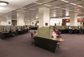Interior of the Swem Library