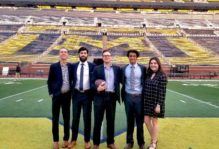 Students from the Mason Investment Club at the University of Michigan's Interactive Investment Competition