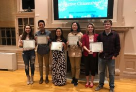Award winners for the celebration of active citizenship