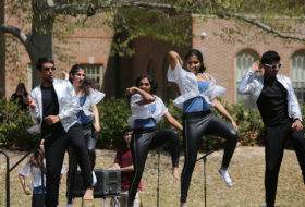 Bhangra student group performing at Day for Admitted Students