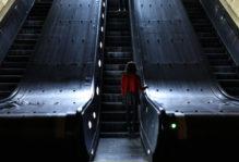 Metro escalator in Washington DC