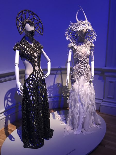 Dresses as a part of The Art of the Burning Man exhibit in the Renwick Gallery