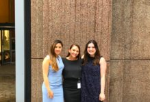 Alicia and fellow interns at Oppenheimer &Co. Inc.