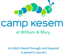 "cartoon caterpillar with text of ""camp kesem at William & Mary"""