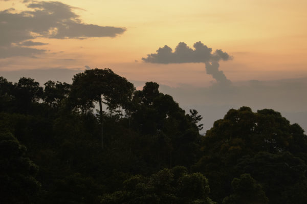 sunset over mountains in Guatemala