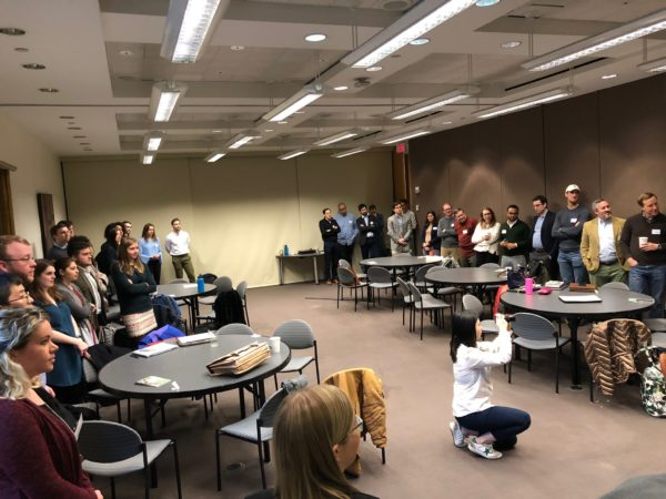 """Twenty-one Tribe alumni met with W&M students during their """"Foreign Policy: International Development and Security"""" class in D.C. this Winter Break"""