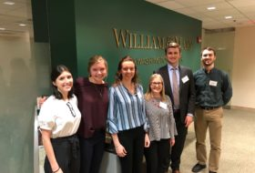 Six of our twenty-one students in the Washington Center offices. L to R: Brooke, Madeleine, Sarah, Meredith, Ryan, Zach