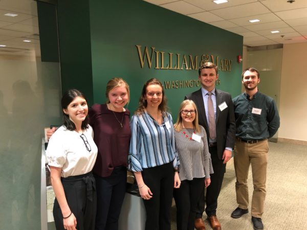 Six of our twenty-one students in the Washington Center offices.L to R: Brooke, Madeleine, Sarah, Meredith, Ryan, Zach