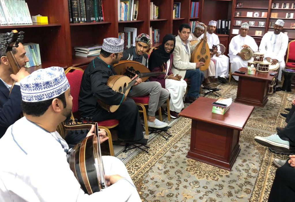 Music-making with the Oud Hobbyist's Association (photo by Wael Kakish).