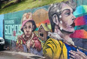 Political street mural in Bogotá, Columbia
