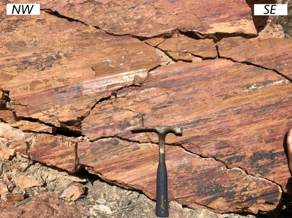 A picture of a fault surface in northern Oman.
