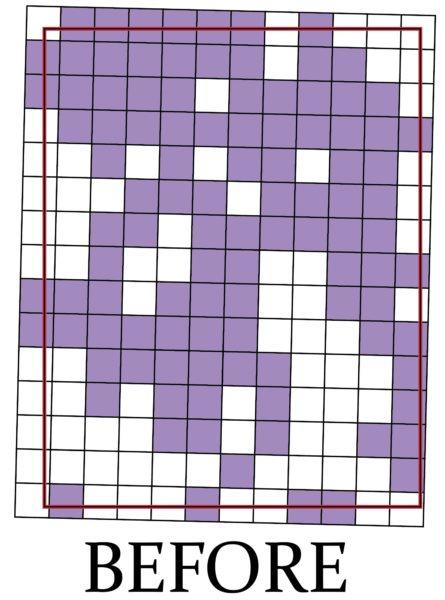 Old UTM grid box map of the Gladstone quadrangle.