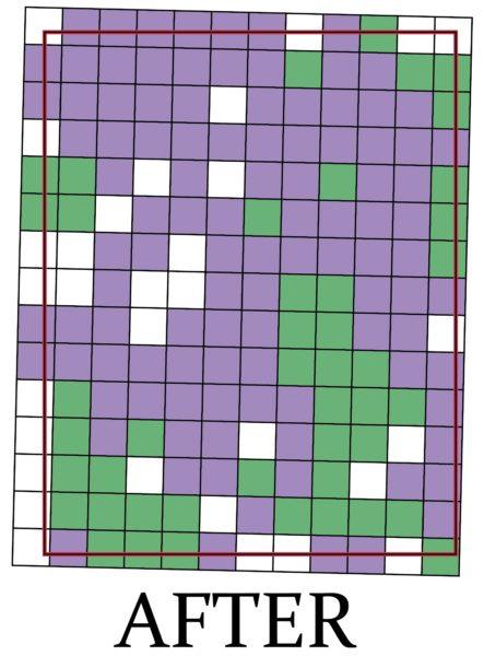 New UTM grid box map of the Gladstone quadrangle.