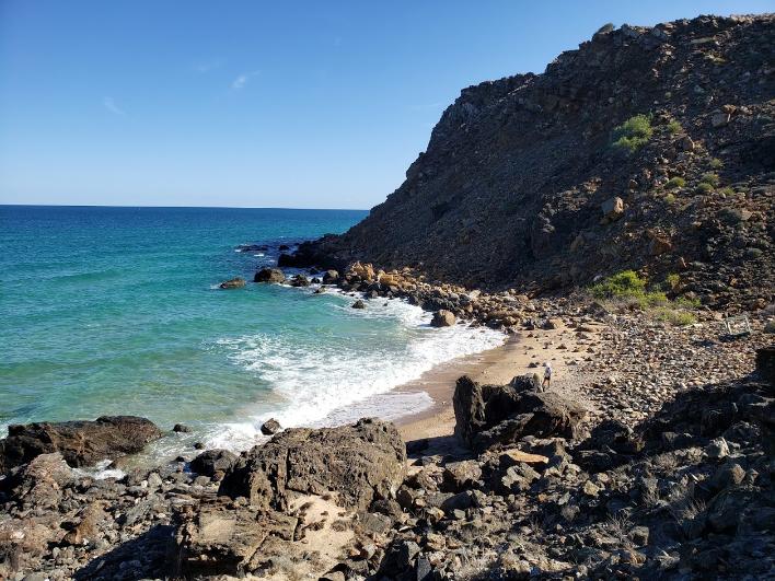 Rocky beach in Oman