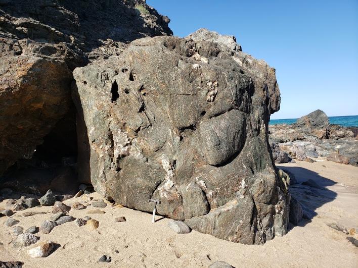 Eclogite outcrop on a beach in Oman