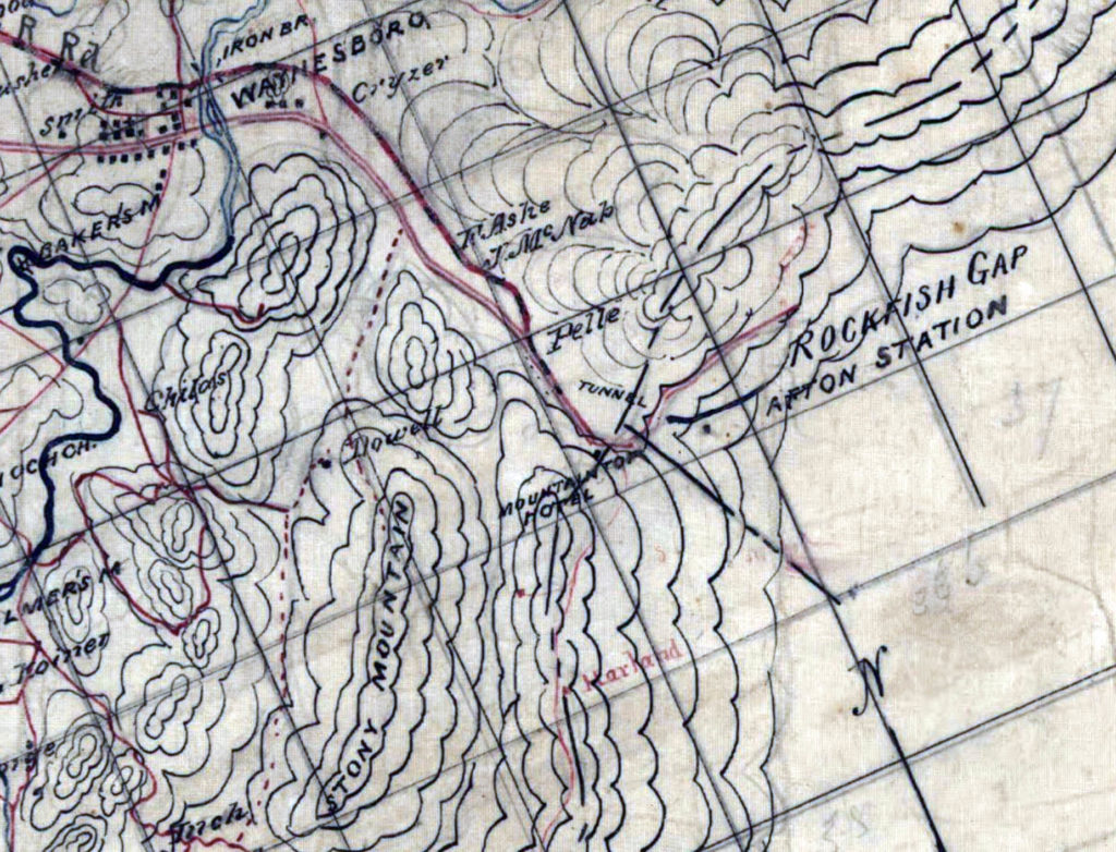 19the century map of Rockfish Gap area.