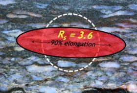 Close-up of strain estimate in rock slab