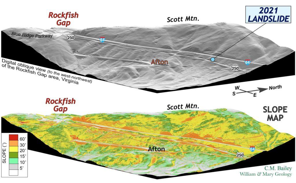 Digital landscape view of the Rockfish Gap area.