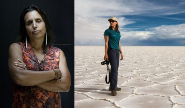 Winona LaDuke and Céline Cousteau in two separate images