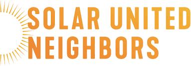 Solar United Neighbors logo. Orange shading.